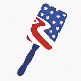 4th of July Favors & Prizes Cardboard Patriotic Fans Image