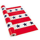 4th of July Table Accessories Plastic Patriotic Table Roll Image