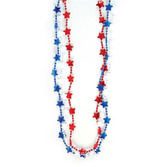 4th of July Party Wear Red, White and Blue Star Necklaces  Image