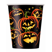 Halloween Table Accessories Pumpkin Grin Cups Image