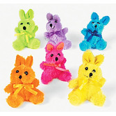 Easter Favors & Prizes Plush Neon Bunny Image