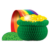 St. Patrick's Day Decorations Pot O' Gold Tissue Centerpiece Image