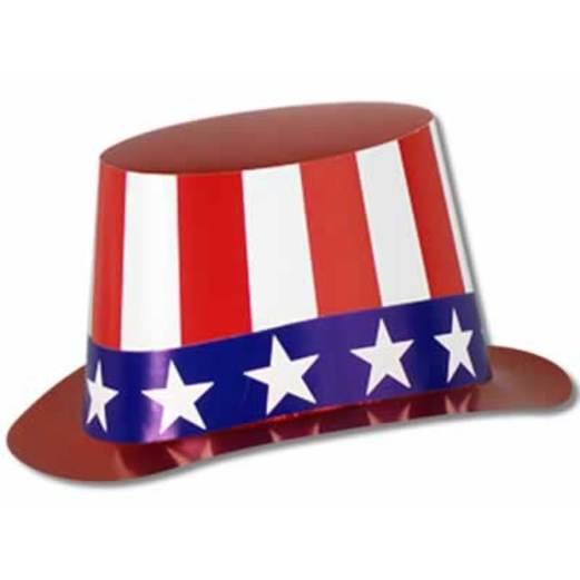 4th of July Hats & Headwear Red, White and Blue Top Hat Image