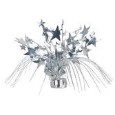 New Years Decorations Silver Star Gleam n Spray Centerpiece Image