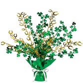 St. Patrick's Day Decorations Metallic Shamrock & Horseshoe Burst Centerpiece Image