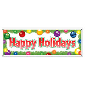 Christmas Decorations Happy Holidays Sign Banner Image