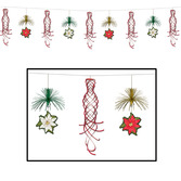 Christmas Decorations Poinsetttia Shimmer Garland Image