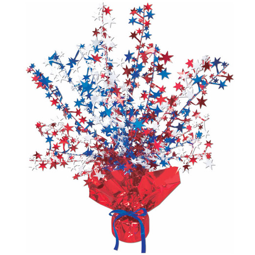 4th Of July Decorations Red White Blue Star Burst Centerpiece Image