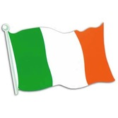 "St. Patrick's Day Decorations 18"" Irish Flag Cutout Image"
