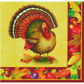Thanksgiving Table Accessories Festive Turkey Beverage Napkin Image