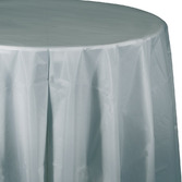 New Years Table Accessories Round Table Cover Silver Image