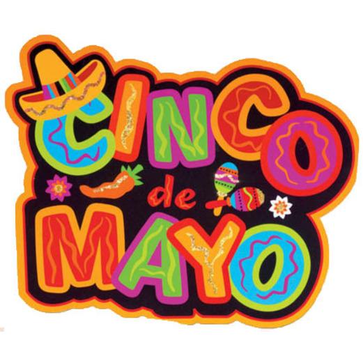Cinco de Mayo Decorations Cinco de Mayo Glitter Cutout Image