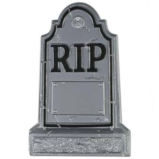 Halloween Decorations Plastic Tombstone Image
