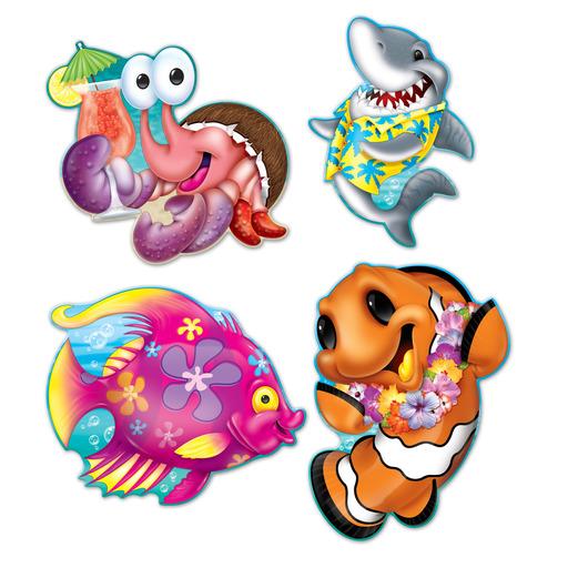 luau decorations sea creature luau cutouts image - Luau Decorations