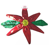 Christmas Decorations Poinsettia Tin Ornament Image
