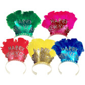 New Years Hats & Headwear Feathered Happy New Year Tiara Image