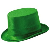 St. Patrick's Day Hats & Headwear Green Vel-Felt Top Hat Image