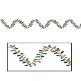 Christmas Decorations Metallic Holly & Berry Garland Image