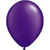 "Mardi Gras Balloons 11"" Pearl Purple Balloons Image"