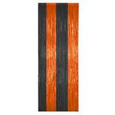 Halloween Decorations Orange and Black Fringe Curtain Image