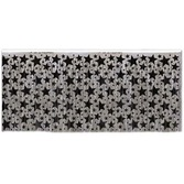 New Years Table Accessories Black and  Silver Star Fringe Skirt Image