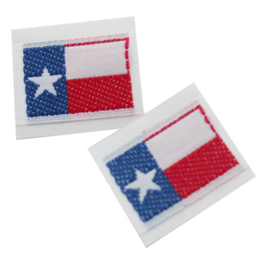 Western Favors & Prizes Texas Flag Embroidered Sticker Image