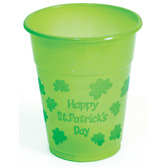 St. Patrick's Day Table Accessories St. Pat's Plastic Cups Image