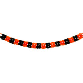 Halloween Decorations Orange and Black Plastic Garland Image