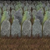 Halloween Decorations Graveyard Backdrop Image