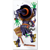 Halloween Decorations Crashing Witch Door Cover Image