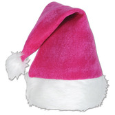Christmas Hats & Headwear Pink Velvet Santa Hat  Image
