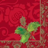 Christmas Table Accessories Elegant Holiday Beverage Napkins Image