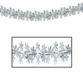 Christmas Decorations Metallic Snowflake Garland Image