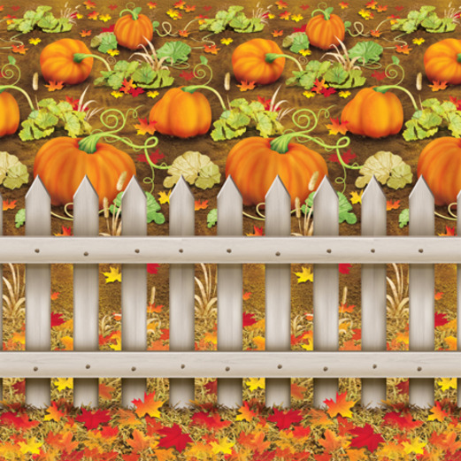 Thanksgiving Decorations Pumpkin Patch Backdrop Image