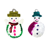 Christmas Decorations Snowman Tin Ornament Image