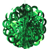"Christmas Decorations 16"" Green Foil Ball Image"