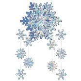 Christmas Decorations 3-D Snowflake Mobile Image