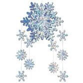 Christmas Decorations 3-D Snowflake Mobile Image
