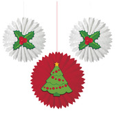 Christmas Decorations Christmas Tissue Fans Image