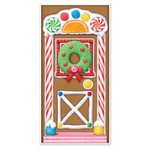 Christmas Decorations Gingerbread House Door Cover Image