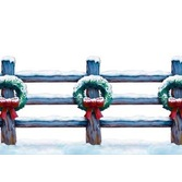 Christmas Decorations Holiday Fence Border Image
