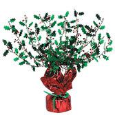 Christmas Decorations Metallic Holly & Berry Burst Centerpiece Image