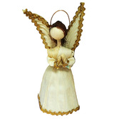 Christmas Decorations Medium Cornhusk Angel Image