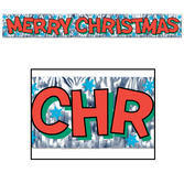 Christmas Decorations Metallic Merry Christmas Banner Image