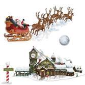 Christmas Decorations Santa Sleigh /Workshop Props Image