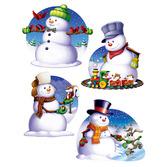 Christmas Decorations Snowman Cutouts Image