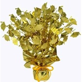 Graduation Decorations Gold Graduation Cap Centerpiece Image