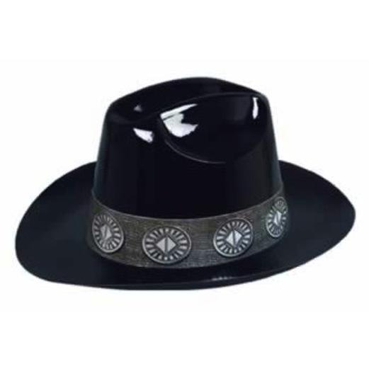 Western Hats & Headwear Black Plastic Cowboy Hat Image