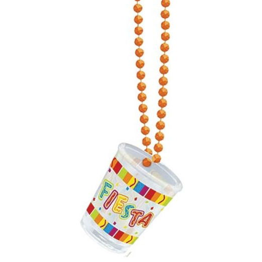 Cinco de Mayo Party Wear Fiesta Shot Glass Bead Necklace Image