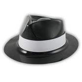 New Years Hats & Headwear Black Plastic Gangster Hat Image